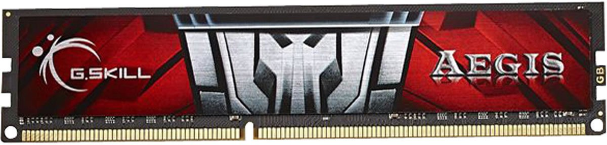 G.Skill Aegis DDR3 8 GB (Single Channel) PC (F3-1600C11S-8GIS)(Red)