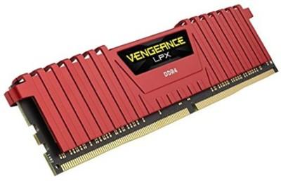 corsair 16-16-16-39 DDR4 8 GB (1 X 8) PC DDR4 SDRAM (CMK8GX4M1A2400C16R)(Red)