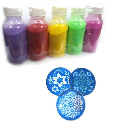 Simran Pack of 8 Rangoli Powder