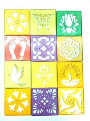 Vardhman plastic stencil 4 inches square Rangoli Stencil