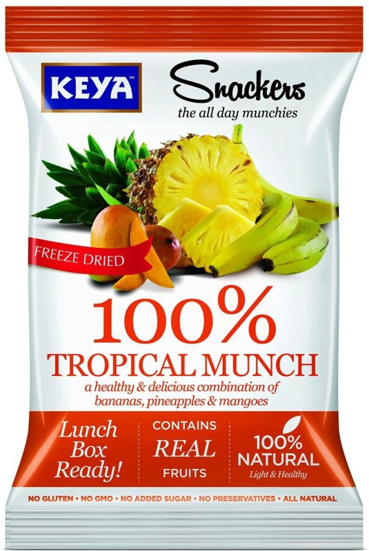 Keya 100% TROPICAL MUNCH (Pack of 2) 25 g(Pack of 2)