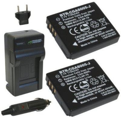 Wasabi Power Battery And Charger Kit For Leica Bp-Dc4, C-Lux 1, D-Lux 2, D-Lux 3, D-Lux 4 Rechargeable Li-ion Battery