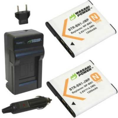 Wasabi Power Kit-Btr-Bn1-Lch-Bn1-01 Wasabi Power Battery And Charger For Sony Np-Bn1 And Sony Cyber-Shot Rechargeable Li-ion Battery