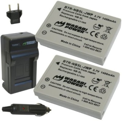 Wasabi Power Kit-Btr-Nb5L-Lch-Nb5L-01 Battery And Charger For Canon Nb-5L And Canon Powershot Rechargeable Li-ion Battery