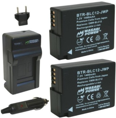 Wasabi Power Kit-Btr-Blc12-Lch-Blc12-01 Wasabi Power Battery (2-Pack) And Charger For Panasonic Rechargeable Li-ion Battery