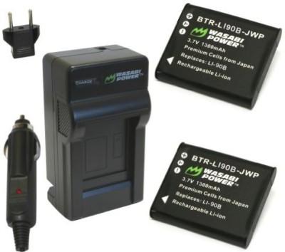 Wasabi Power KIT-BTR-LI90B-LCH-LI50B-01 Rechargeable Li-ion Battery