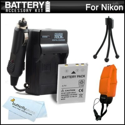 ButterflyPhoto Battery And Charger Kit For Nikon Coolpix Rechargeable Li-ion Battery