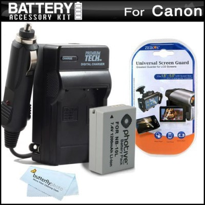 ButterflyPhoto Battery And Charger Kit For Canon Rechargeable Li-ion Battery