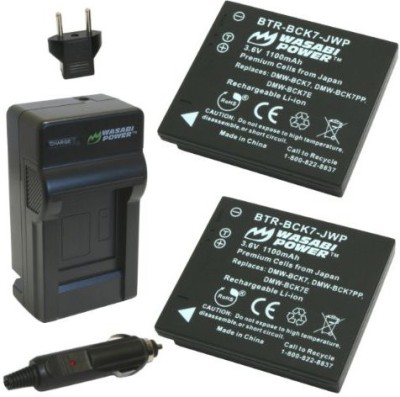 Wasabi Power Kit-Btr-Bck7-Lch-Bck7-01 Battery And Charger For Panasonic Rechargeable Li-ion Battery