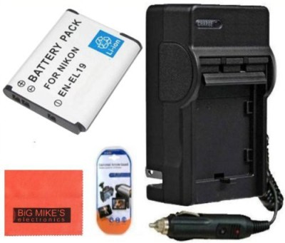 Big Mike s Premium En-El19, Enel19 Battery & Charger Kit Rechargeable Li-ion Battery
