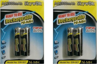 Skywok 1.2V,2800AA,2pks of 4 pieces, SW007 Rechargeable Ni-MH Battery