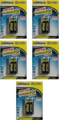 Skywok 1.2V,2500AA,5 pks of 10 pieces, SW006 Rechargeable Ni-MH Battery