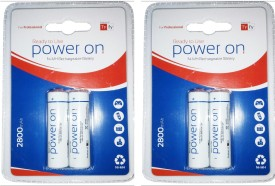 Tyfy 2800 BP2 X 2 packs AA Rechargeable Ni-MH Battery