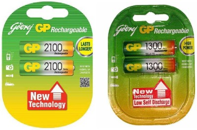 Godrej Gp Combo Of 2100 & 1300 Mah AA Rechargeable Battery Rechargeable Ni-MH Battery