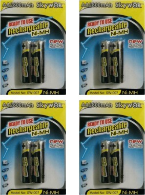 Skywok 1.2V,2800AA,4 pks of 8 pieces, SW007 Rechargeable Ni-MH Battery