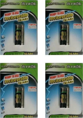 Skywok 1.2V,1100AAA, 4 pks of 8 pieces,SW002 Rechargeable Ni-MH Battery