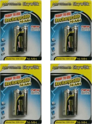 Skywok 1.2V,1100AA, 4 pks of 8 pieces,SW004 Rechargeable Ni-MH Battery