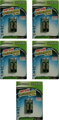 Skywok 1.2V, 800AAA, 5 pks of 10 pieces,SW001 Rechargeable Ni-MH Battery