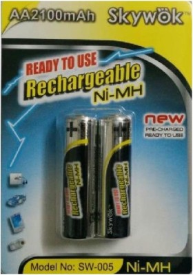 Skywok 1.2V,2100AA, 1 pk of 2 pieces, SW005 Rechargeable Ni-MH Battery