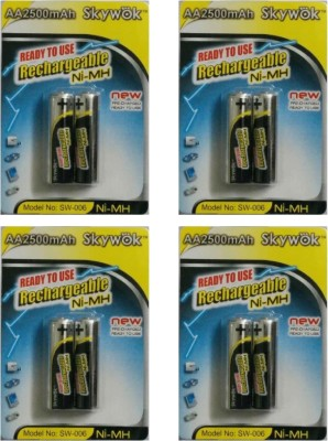 Skywok 1.2V,2500AA, 4 pks of 8 pieces, SW006 Rechargeable Ni-MH Battery