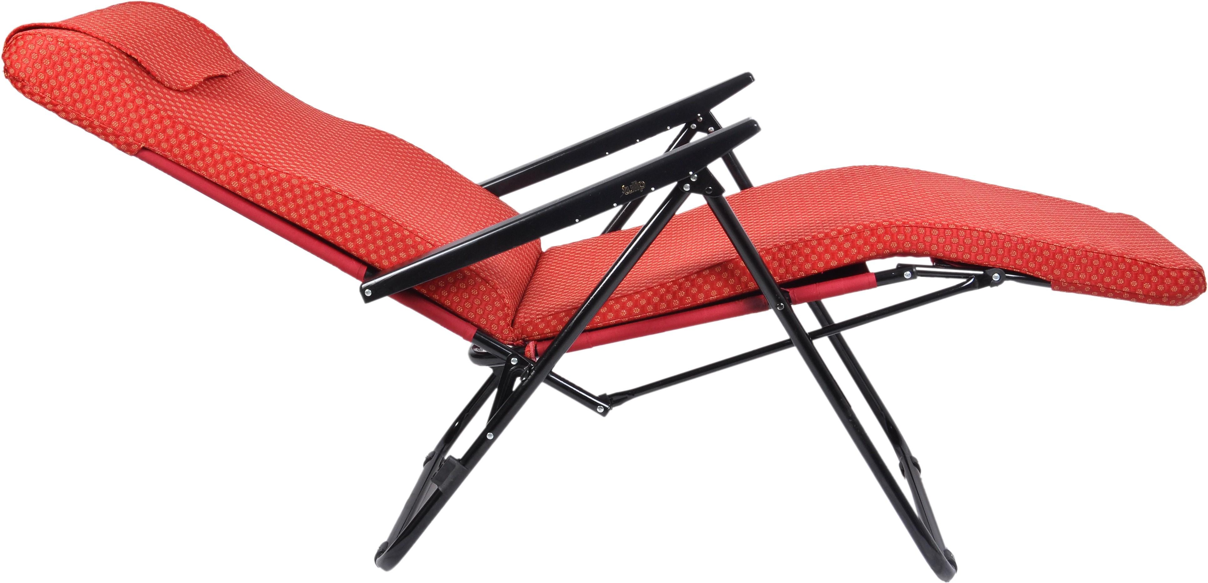 View Tulip Metal Manual Recliners(Finish Color - Red) Furniture (Tulip)