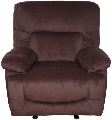 Evok Fabric Manual Rocker Recliners(Finish Color - Chocolate)