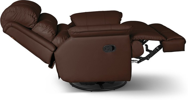 Little Nap Recliners Leatherette Manual Swivel Recliners(Finish Color - Brown)