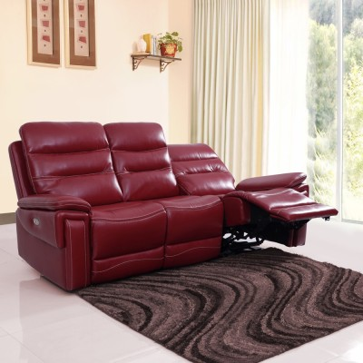 Evok Leatherette Powered Recliners(Finish Color - Red)