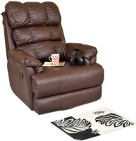 Recliners India Leatherette Manual Swivel Recliners(Finish Color - Brown)