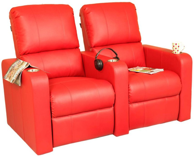 Recliners India Leatherette Powered Recliners(Finish Color - Red)