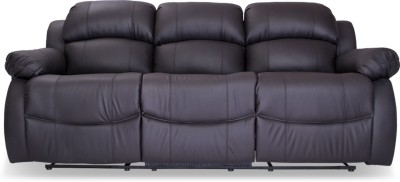 Durian Leather Manual Rocker Recliners(Finish Color - Black)