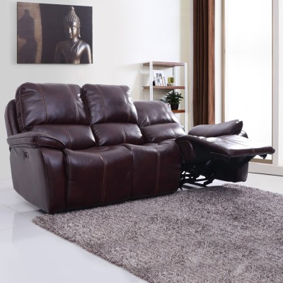 Evok Leatherette Powered Recliners(Finish Color - Red Brown)