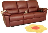 Recliners India Leatherette Manual Recliners(Finish Color - Burgandy)