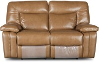 HomeTown Half-leather Powered Recliners(Finish Color - Brown)