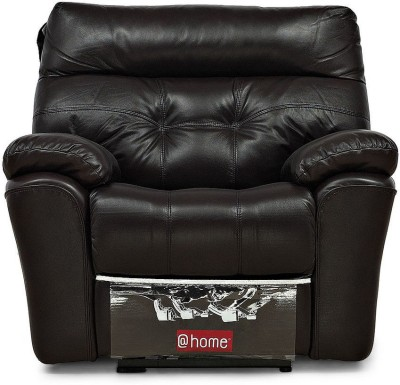 @home by Nilkamal Half-leather Manual Recliners(Finish Color - Black)