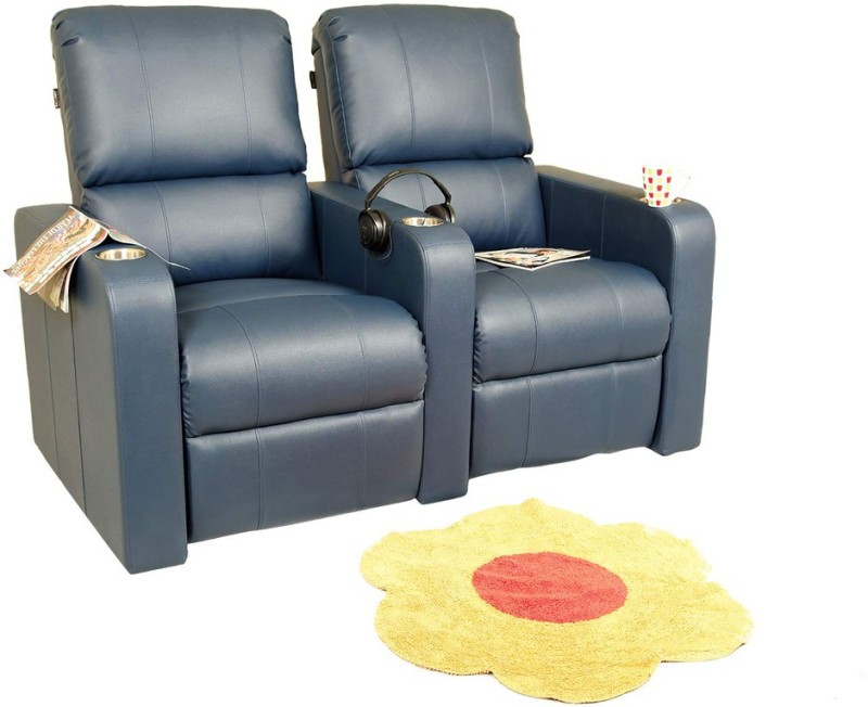 Recliners India Leatherette Powered Recliners(Finish Color - Blue)