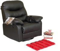 Recliners India Leatherette Manual Swivel & Rocker Recliners(Finish Color - Black)
