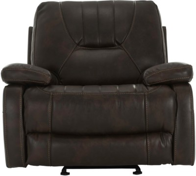 Durian Leather Manual Rocker Recliners(Finish Color - Dark Brown)