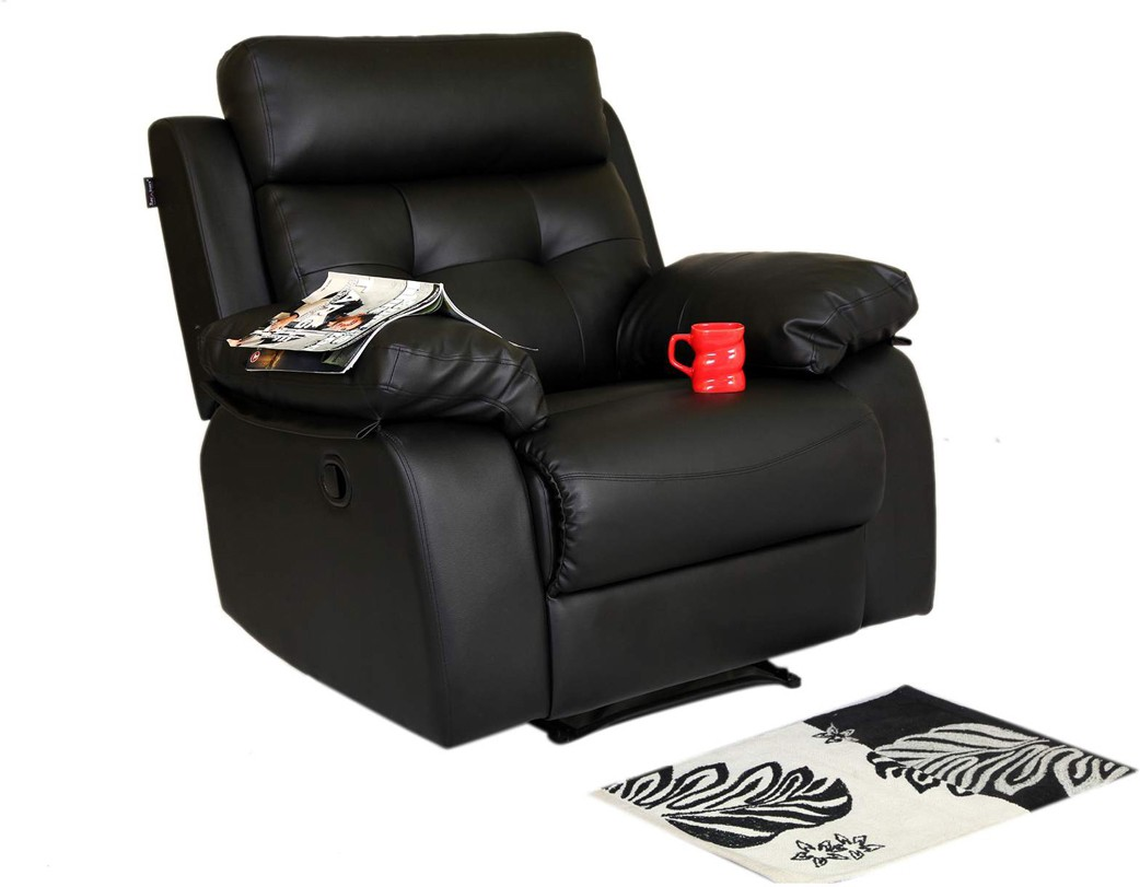 View Recliners India Leatherette Manual Recliners(Finish Color - Black) Furniture (Recliners India)
