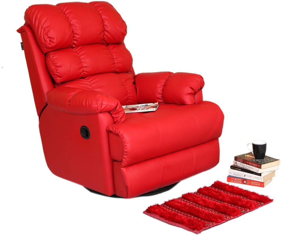 View Recliners India Leatherette Manual Swivel Recliners(Finish Color - Red) Furniture (Recliners India)