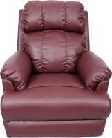 Recliners India Leatherette Manual Rocker Recliners(Finish Color - Burgandy)