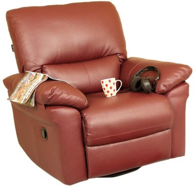 Recliners India Leatherette Manual Swivel Recliners(Finish Color - Burgandy)