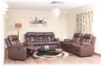 Evok Magna Leather Manual Recliners(Finish Color - Brown)