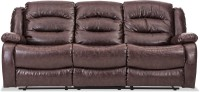 Durian Leatherette Manual Recliners(Finish Color - Chocolate Brown)