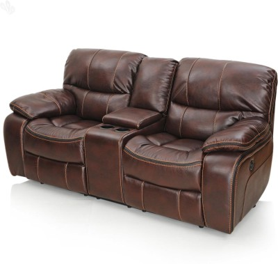 Royal Oak Grand Leather Manual Recliners(Finish Color - Brown)