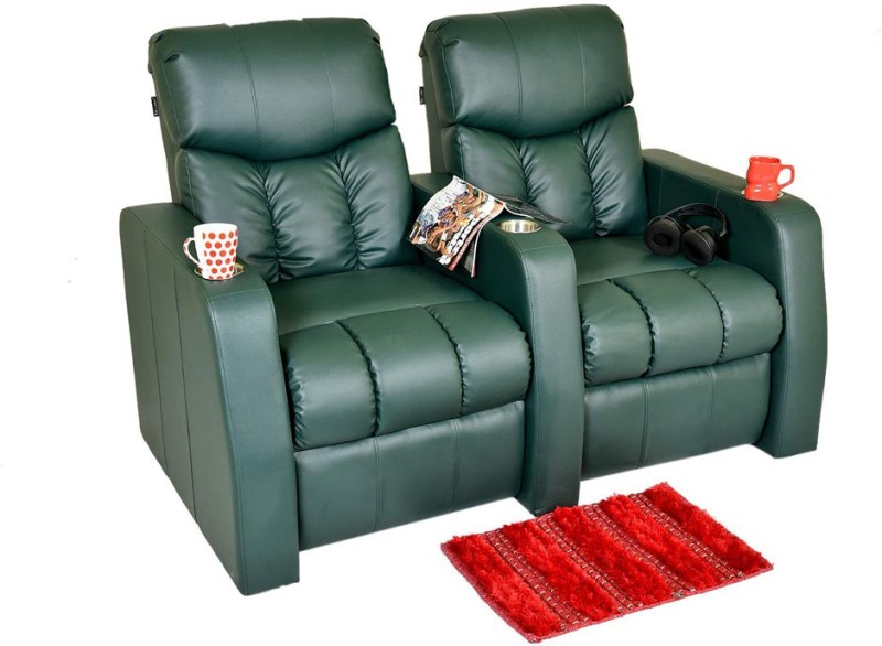Recliners India Leatherette Manual Recliners(Finish Color - Green)