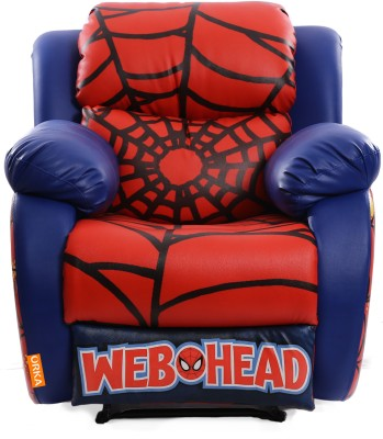 ORKA Leatherette Manual Rocker Recliners(Finish Color - Red Blue)