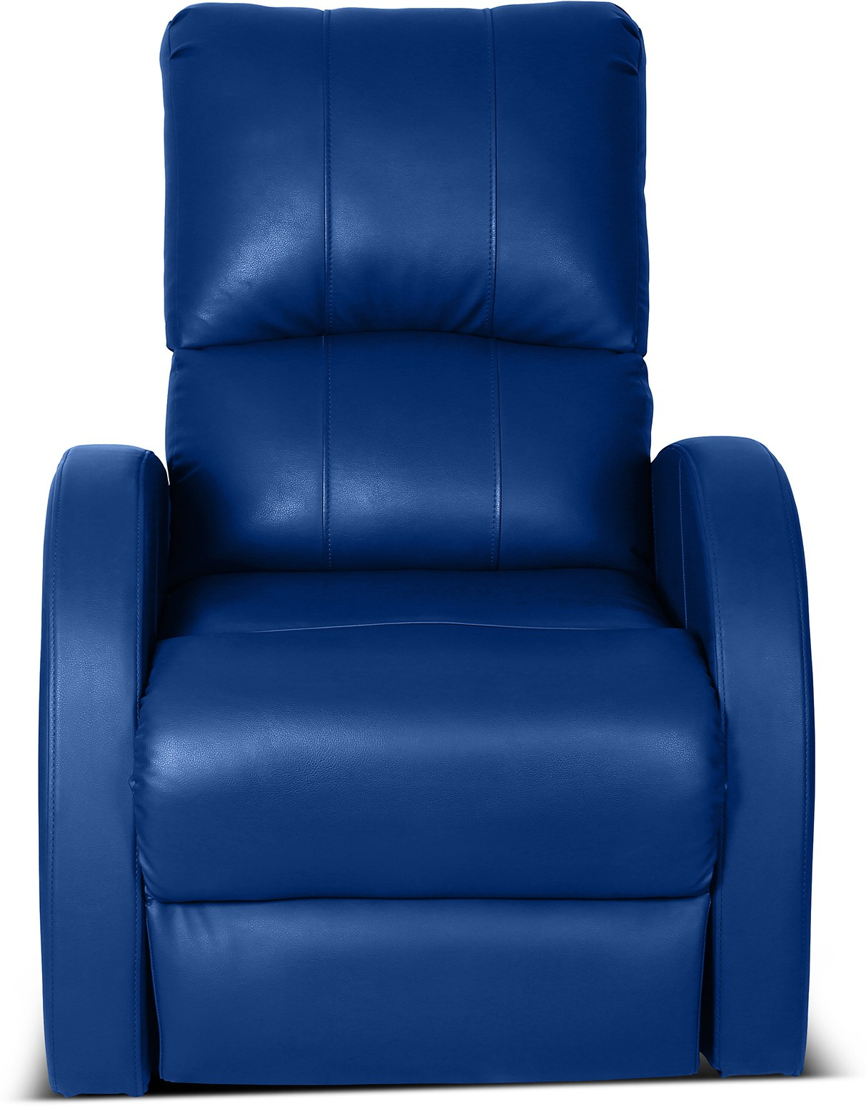 View Little Nap Recliners Leatherette Manual Recliners(Finish Color - Blue) Furniture (Little Nap Recliners)