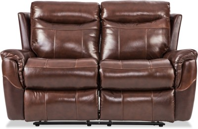 Durian Leather Manual Recliners(Finish Color - Grey)