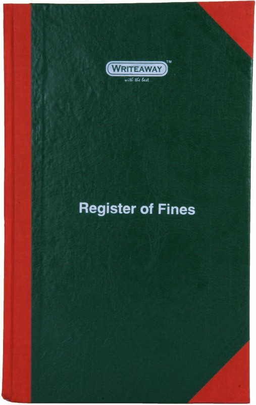 Writeaway Bsc00652 Reg-52 1-Part Register Of Fines(1 Sets, Fines)
